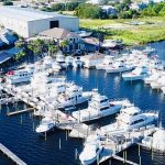 aerial view of Zeke's Marina