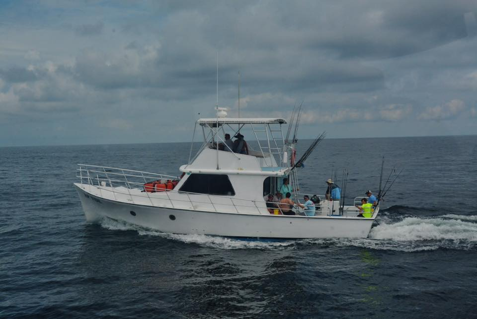 Rip Tide With A Group Of Anglers Onboard
