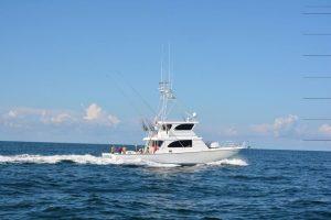 Sea Hunter Deep Sea Fishing Boat on Water