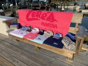 Zeke's Marina t-shirt display