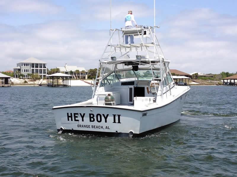 Hey Boy II Fishing Near Shore