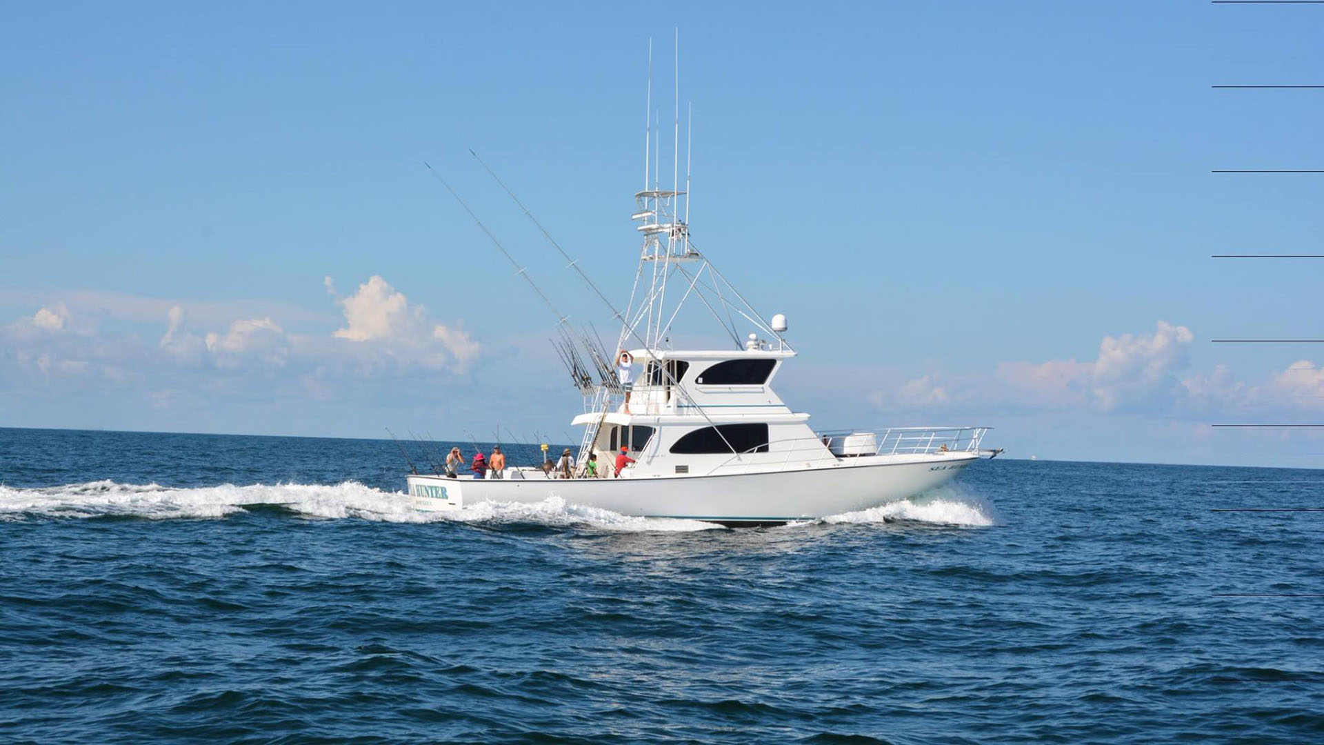 Sea Hunter Cruising With Anglers Aboard